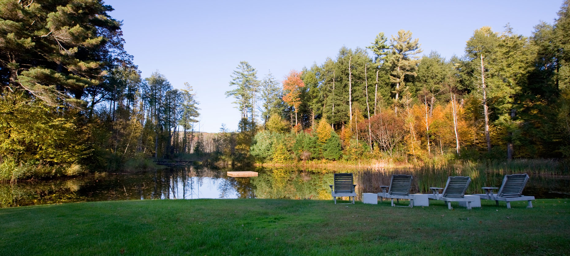 Upstate Private Pond in Fall