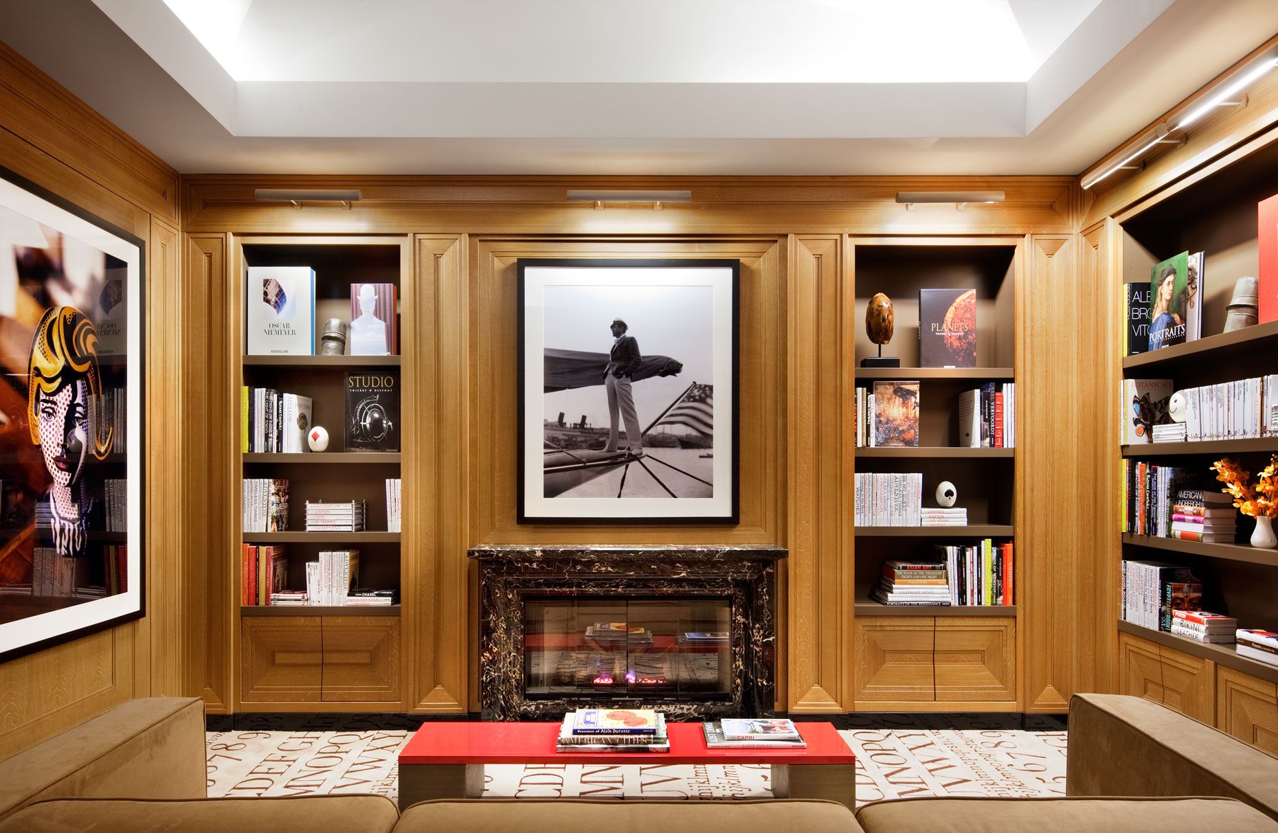 Library of Luxury Building