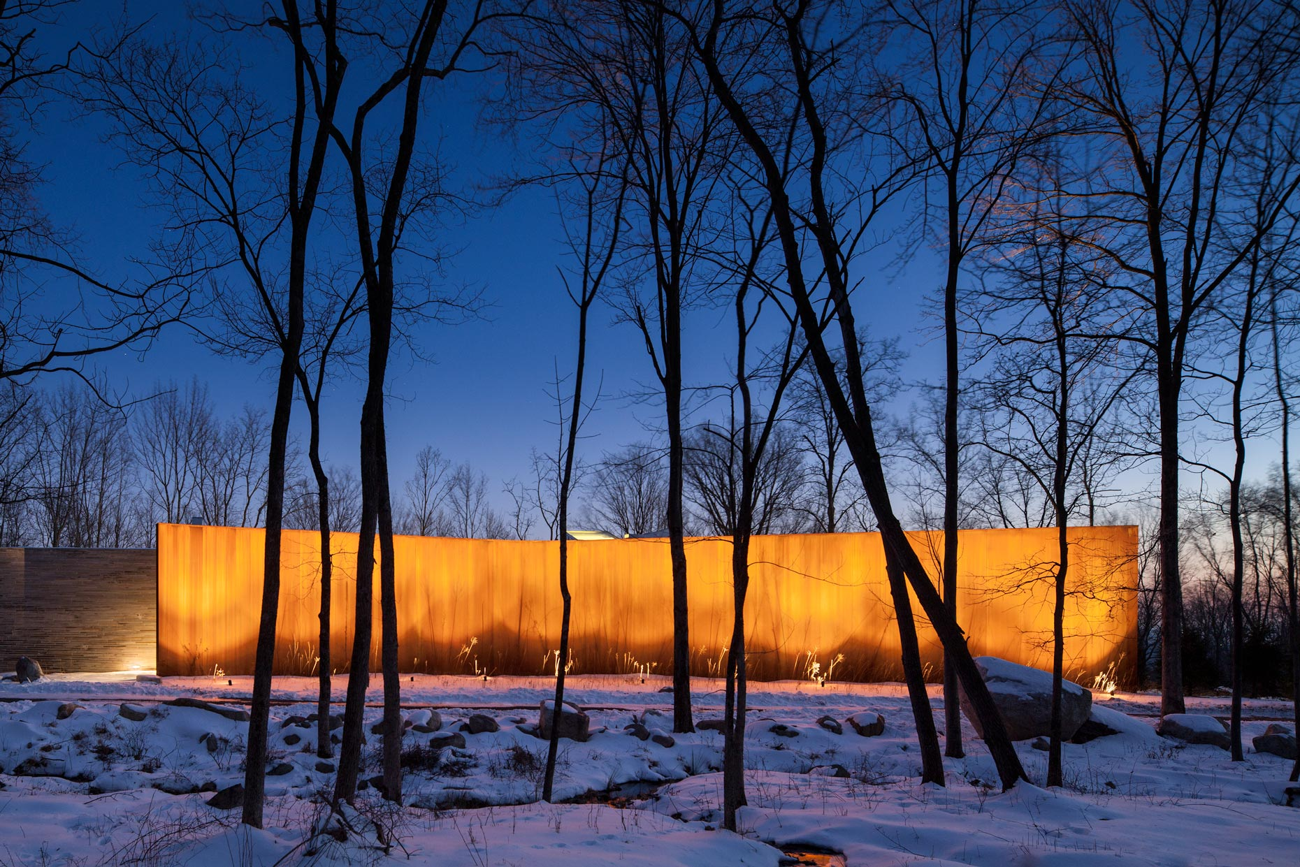 A house in the woods upstate New York, by William Reue Architect