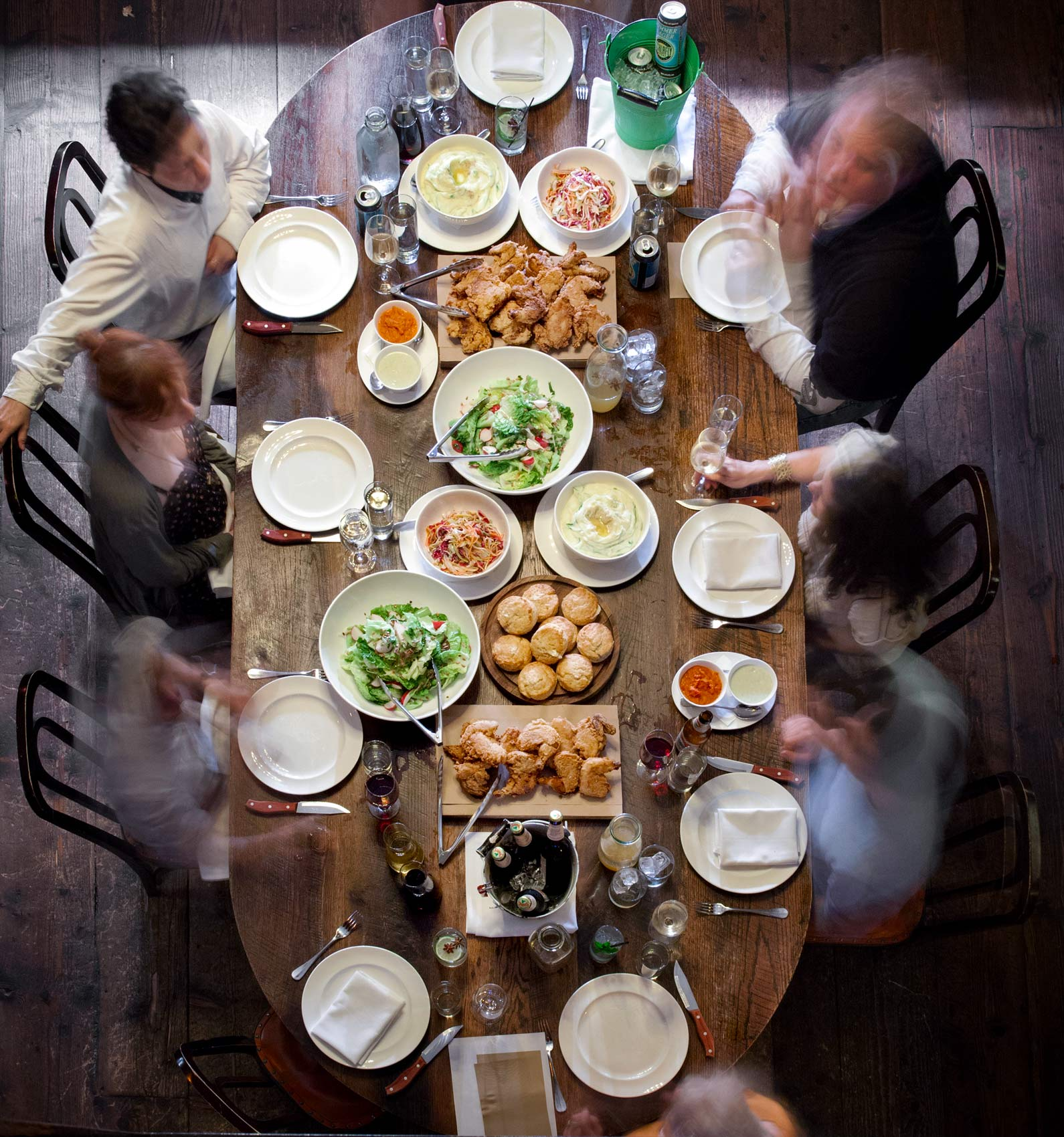 Overhead Dining Photography at the Breslin at the Ace Hotel