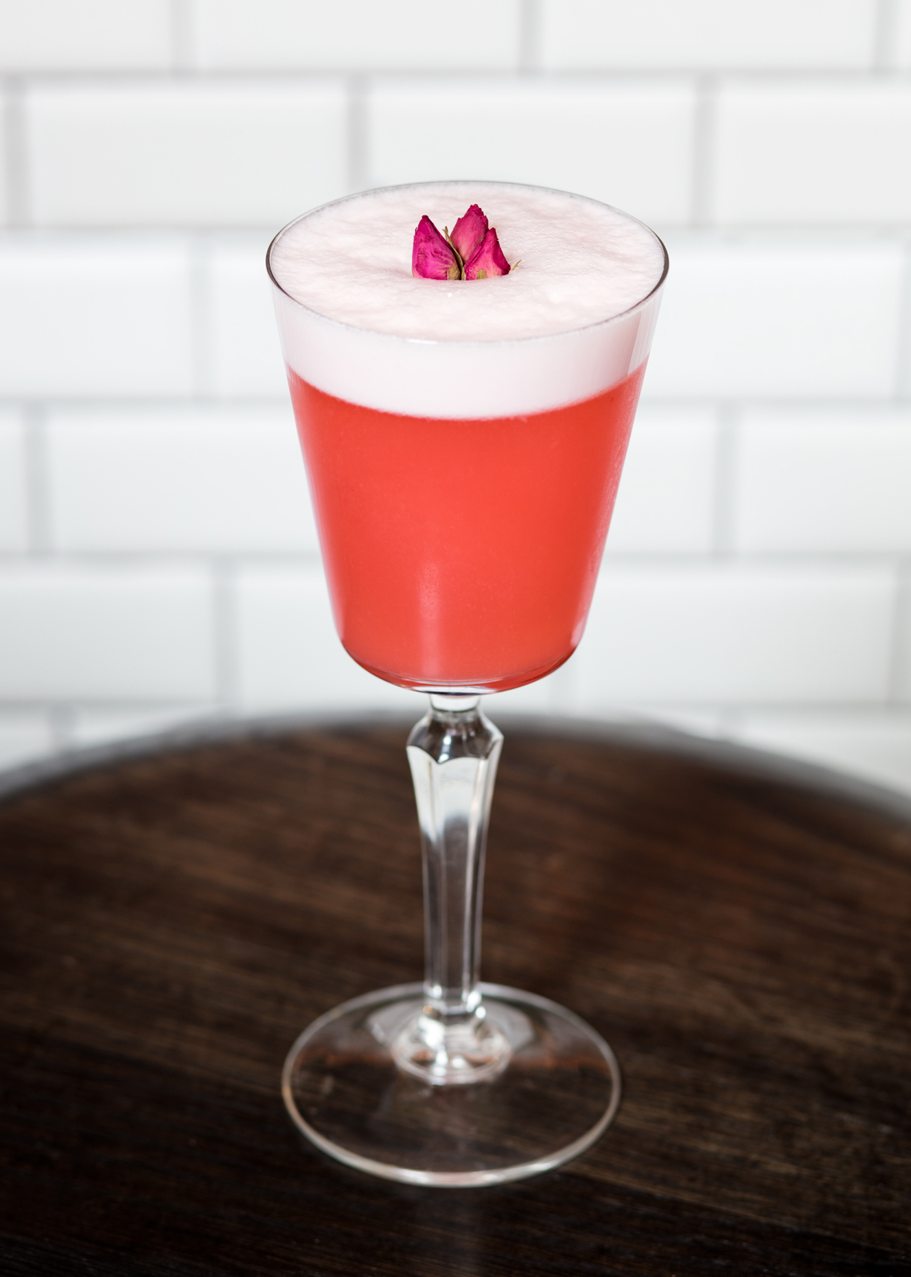 Italiano Sour With Rose Garnish