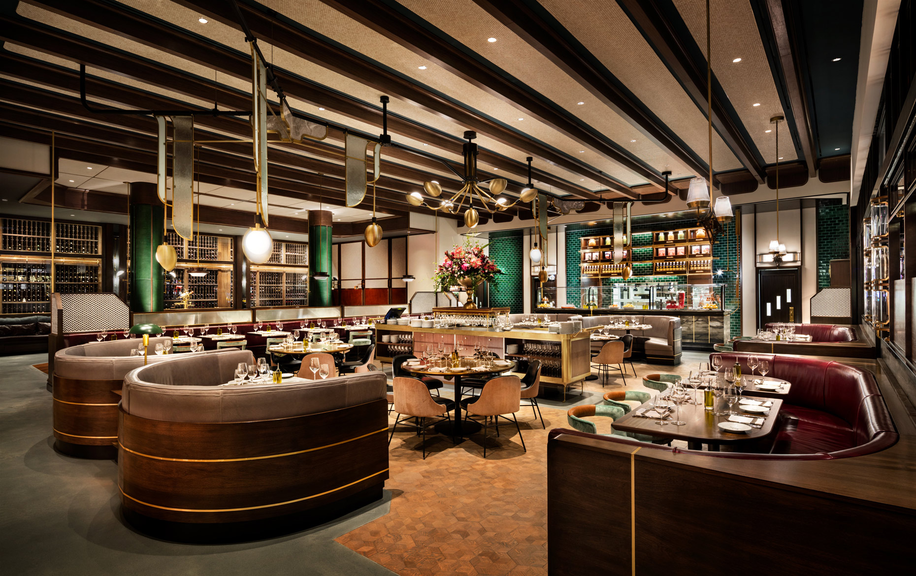 Main Dining of Michael Symon Restaurant by Parts and Labor Design