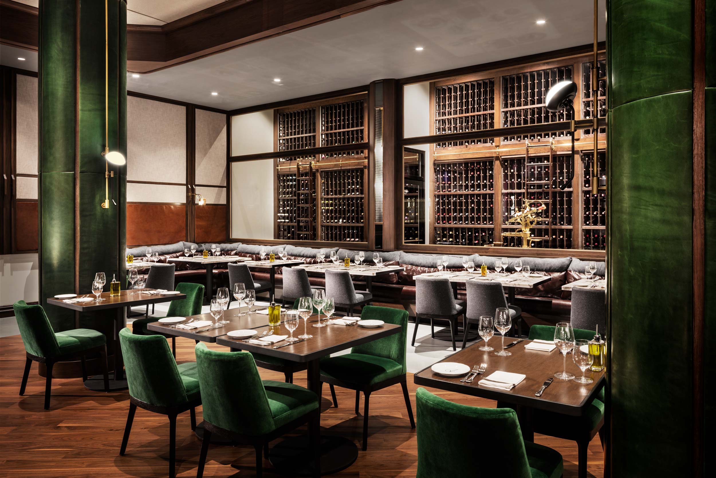 Dining Room of Angeline Restaurant from Chef Michael Symon designed by PLDC in Borgata