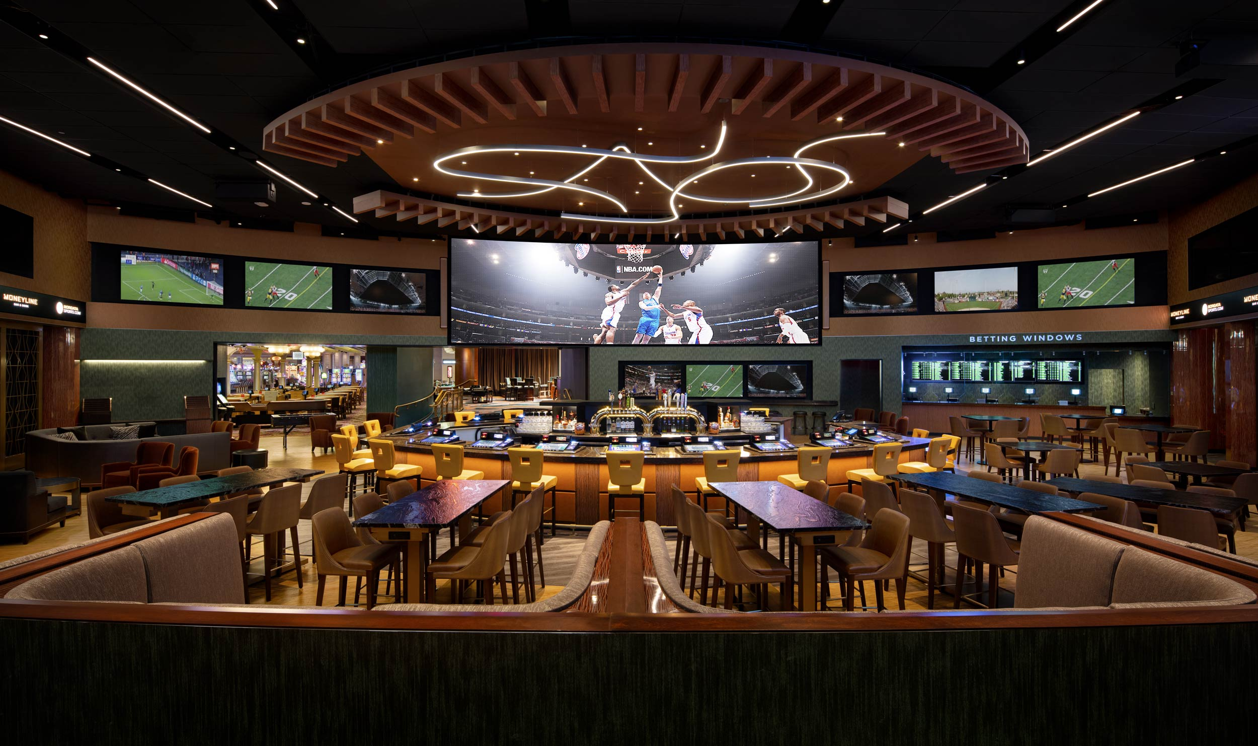Moneyline Sportsbook Bar at the Borgata Casino in Atlantic City